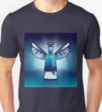 Angel In Blue Stained Glass  Unisex T-Shirt