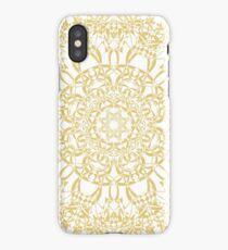 gold pattern mandala iPhone Case/Skin