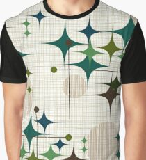 Eames Era Starbursts and Globes 1 (bkgrnd) Graphic T-Shirt