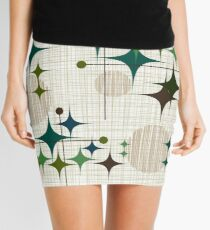 Eames Era Starbursts and Globes 1 (bkgrnd) Mini Skirt