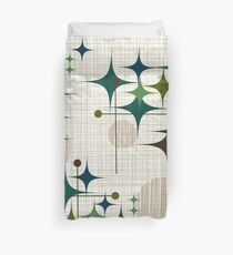 Eames Era Starbursts and Globes 1 (bkgrnd) Duvet Cover