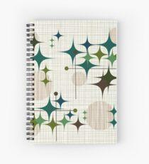 Eames Era Starbursts and Globes 1 (bkgrnd) Spiral Notebook