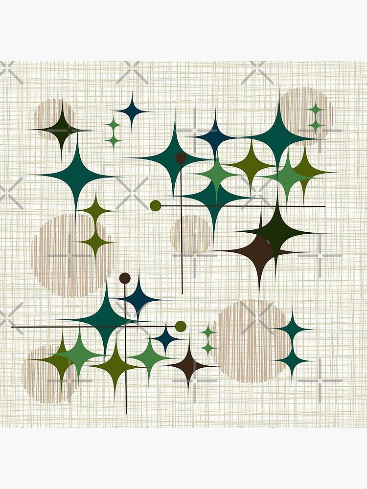 Eames Era Starbursts and Globes 1 (bkgrnd) by Makanahele