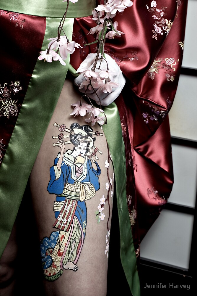 The leg of a Geisha by Jennifer Harvey