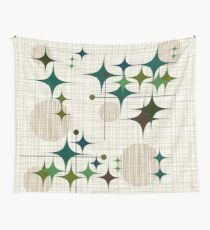 Eames Era Starbursts and Globes 1 (bkgrnd) Wall Tapestry