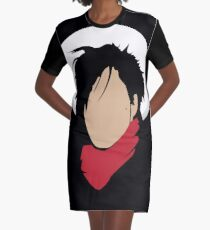Hat & red scarf Graphic T-Shirt Dress