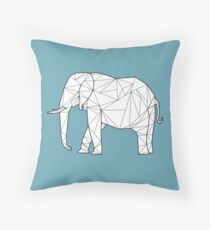 Geometric Elephant With Fill Throw Pillow