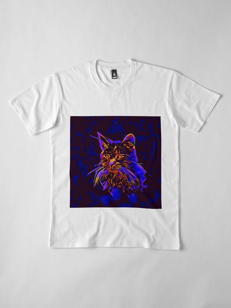Alternate view of Cat Premium T-Shirt
