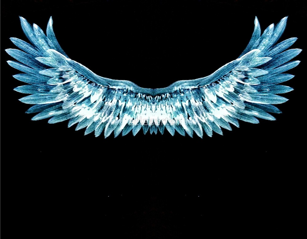 Blue wings by atlasartsn