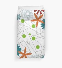 Retro 60s Floral and Boomerang Duvet Cover