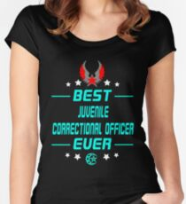 JUVENILE CORRECTIONAL OFFICER Women's Fitted Scoop T-Shirt