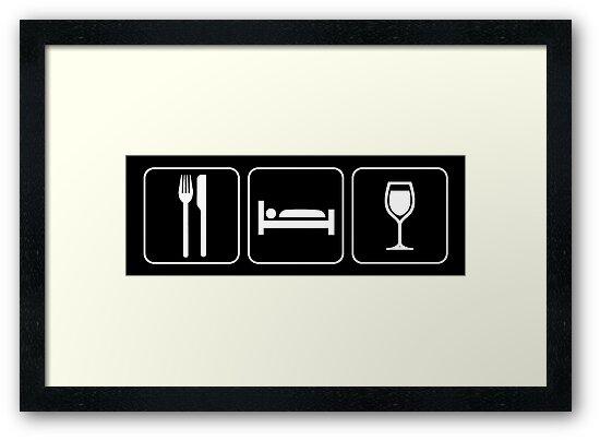 Food Sleep Wine by Pixelchicken