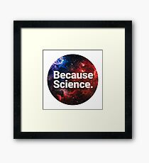 Because Science. Framed Print