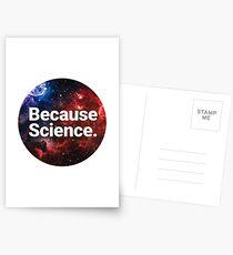Because Science. Postcards