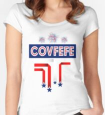 Covfefe Trump Joke for 4th of July Celebration Women's Fitted Scoop T-Shirt