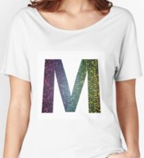 letter M of different colors Women's Relaxed Fit T-Shirt