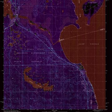 USGS TOPO Map Florida FL Salt Springs 348389 1994 24000 Inverted by wetdryvac