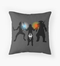 Skyrim - Thief, Mage and Warrior Throw Pillow