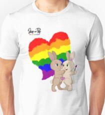 Skip and Pip (aka the Pride Bunnies) Pride 2017 Unisex T-Shirt