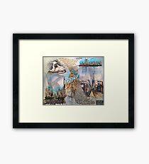 Genesis Fanart The Lamb Lies Down On Broadway by Frank Grabowski Framed Print