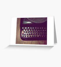 Typewriter on hardwood floor Greeting Card