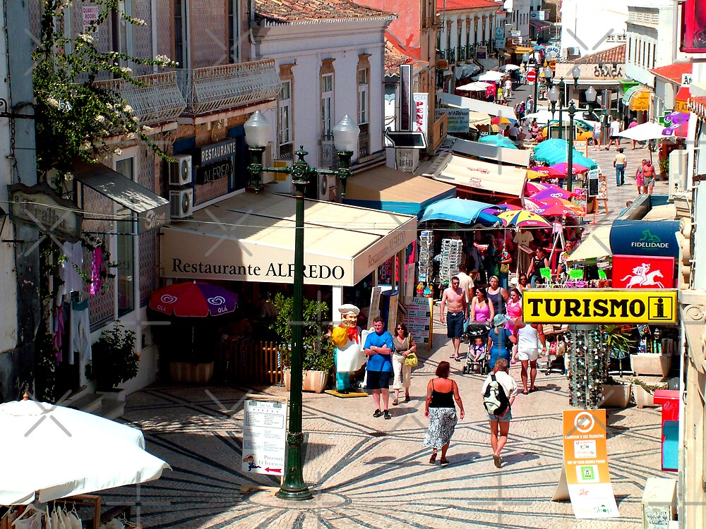 Albufeira Street by Tom Gomez
