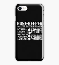 Rune-keeper - LoTRO iPhone Case/Skin