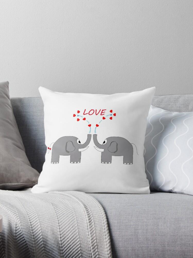 Lovely elephants by black-hat