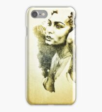 Graphite Drawing Female iPhone Case/Skin