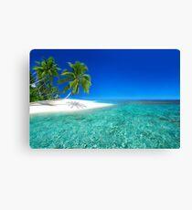 Postcard from the Anse Lazio beach - Praslin island, Seychelles Canvas Print