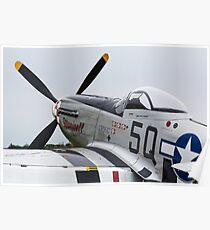 Mustang P51-D, Little Gransden Air Show 2015 Poster