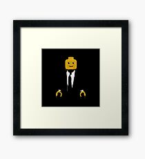 Lego man cool Framed Print