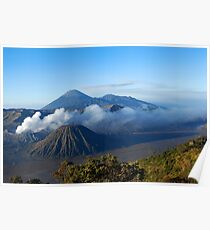 Mount Bromo, an active volcano in East Java, Indonesia. Poster