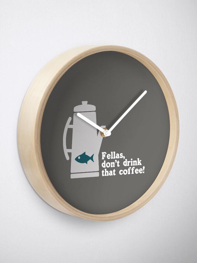 Alternate view of Fish in the Percolator  Clock