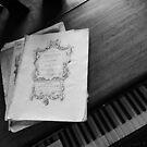 Piano and sheet music by Tony Blakie