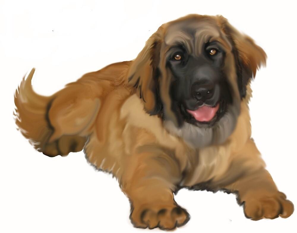 Leonberger puppy by IowaArtist