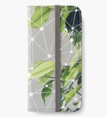 Aesthetic plants grey iPhone Wallet/Case/Skin