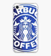 Blue Watercolor Starbucks iPhone Case/Skin