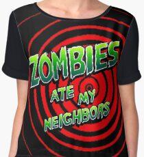Zombies Ate My Neighbors Pixel Art Women's Chiffon Top