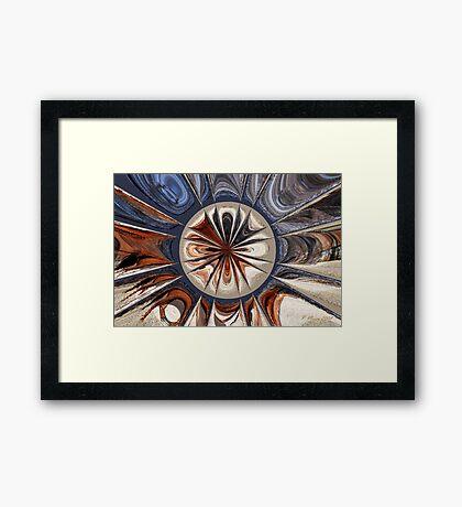 Moonburst of Color Framed Print