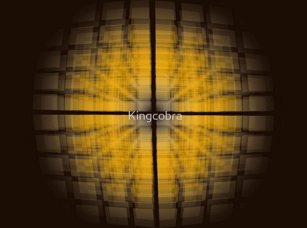 The Orange Faded Grid by Kingcobra