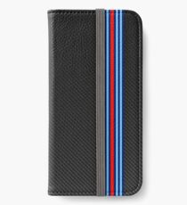 Carbon racing stripes iPhone Wallet/Case/Skin