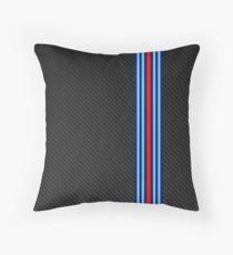 Carbon racing stripes Throw Pillow