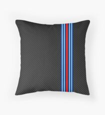 Carbon racing stripes Throw Pillow