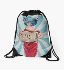 Resist! Drawstring Bag
