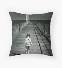 Lonely Jetty Throw Pillow