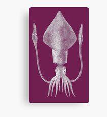 Squid (Purple) Canvas Print