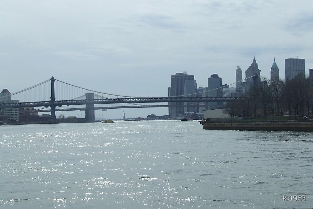 Lower Manhatten from East River by kk1963