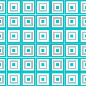Blue Gray And White Blocks by KCavender