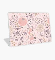Field of Flowers in Pink and Purple Laptop Skin